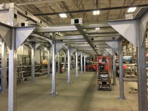 Welding Sheet Metal in Warehouse