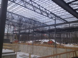Steel erection in Ohio
